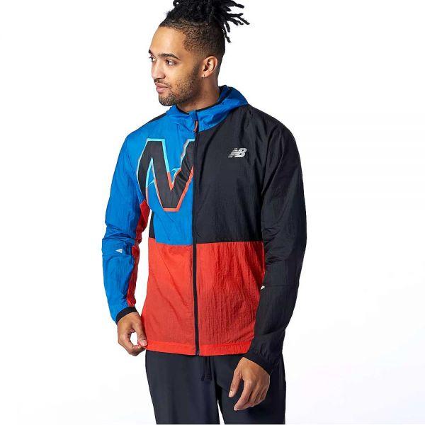 New Balance Men's Impact Printed Lightweight Pack Running Jacket