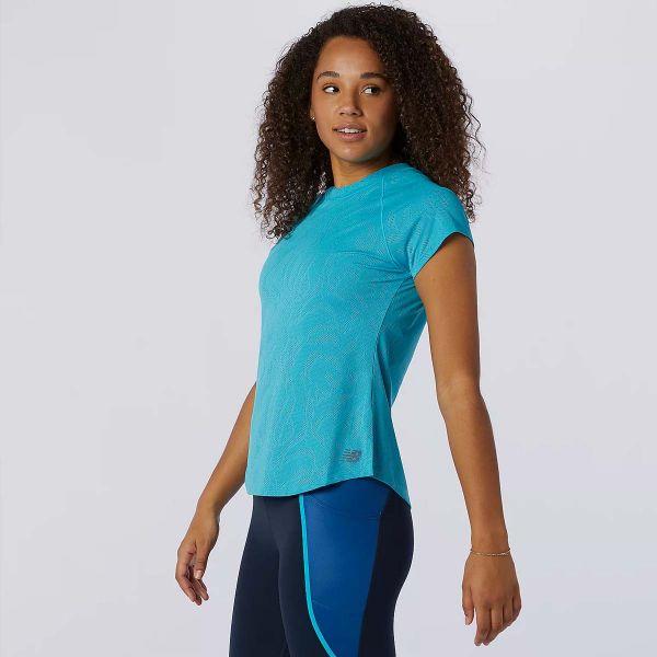 New Balance Women's Q Speed Short Sleeve Jacquard Running Tee