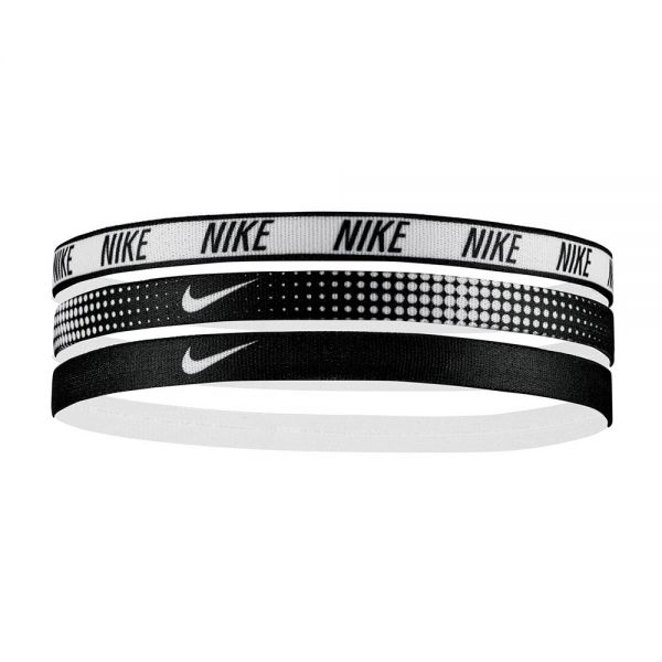 Nike assorted headbands 3 pack black and white