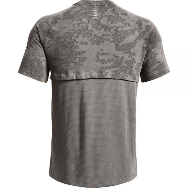 Under Armour Men's Streaker 2.0 Camo Short Sleeve Running Tee grey