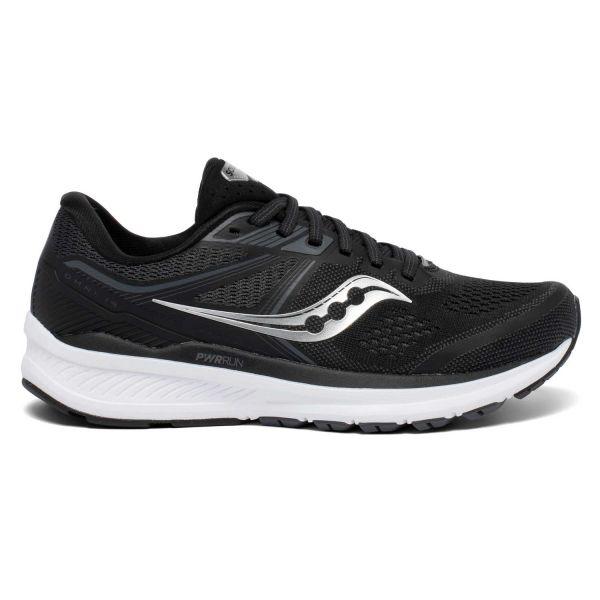 saucony mens omni 19 running shoe black and white