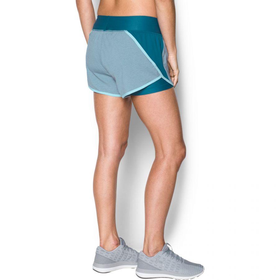 Under Armour UA Women/'s lancement Tulip 2 In 1 Running Gym Short-Neuf